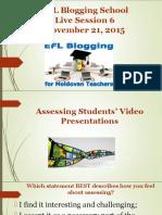 EFL Blogging School live session 6 presentation
