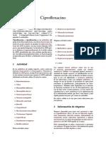 Ciprofloxacino