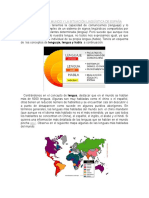 Las Lenguas en El Mundo y La Situación Lingüística de España