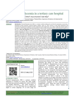 Neonatal Hypoglycemia in a Tertiary Care Hospital