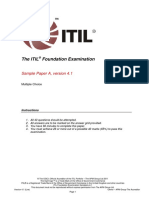 ITIL Foundation Examination Sample a v4.1 Combined