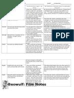 film notes graphic organizer 2