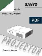 Projector Sanyo Manual 4305