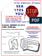 Shoreline Eldercare Alliance Jan. 30 event