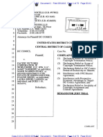 DC Comics v. Pacific Pictures Corp. et al  (10-3633), Plaintiff's complaint