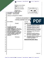 DC Comics v. Pacific Pictures Corp. et al  (10-3633), Plaintiff's complaint