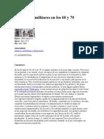 Dictaduras Militares en Los 60 y 70