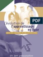 Evolución del aprendizaje en linea FRANCES