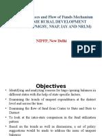 Unspent Balances and Flow of Funds Mechanism Under Some Rural Development Schemes