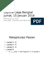 Lapjag bangsal 15-01-2016+EKG