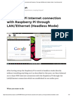 Sharing WiFi Internet Connection With Raspberry Pi Through LAN_Ethernet (Headless Mode) – Syed Anwaarullah
