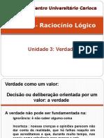 Raciocínio Lógico - Unidade 3