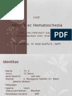 ANEMIA Ec Hematoschezia