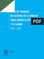Plan de Trabajo de Cultura para América Latina y el Caribe