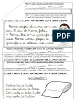Tarefa Letra Cursiva