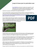 Aménagement paysager de bases pour les particuliers sans pouce vert