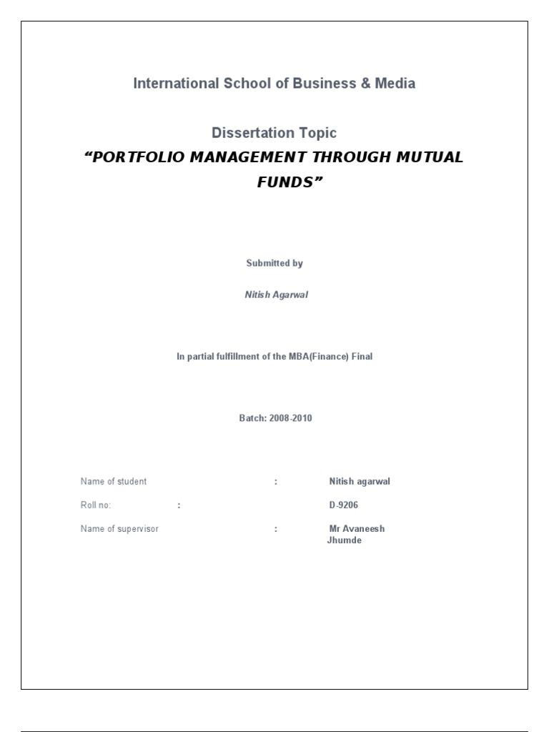 mutual fund analysis pdf