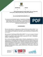 Decreto de aumento de tarifas para TransMilenio y SITP