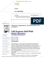 CAE Engineer NASTRAN, Mumbai - 1054701 - Careesma