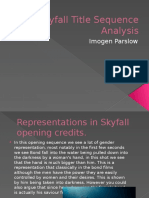 Skyfall Title Sequence Analysis