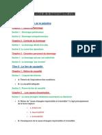 Plan Du Cours Responsabilité Civile S3
