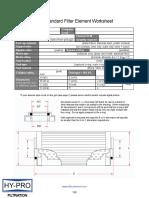 Non-Standard Filter Element Worksheet