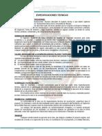 Especificaciones Tecnicas - Sistema de Alcantarillado