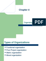 Chapter 4 Organizing Projects