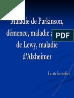 MA-MPI-DCL-Maladie Alzheimer Parkinson Corps de Lewy DrLucetteLacomblez Neurologie Novembre 2007