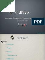 WordPress - Master Comunicación Audiovisual Internet y Nuevos Medios