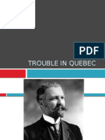 trouble in quebec