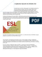 Wichtige Studie der englischen Sprache im Zeitalter der Globalisierung.