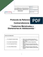 Protocolo RCR Trastornos Menstruales y Dismenorrea