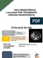 Isquemia Mesentérica Causada Por Trombosis Venosa Mesentérica