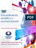Proceso Analitico o Pormenorizado