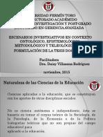 Presentación Seminario Escenarios Investigativos