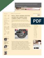 Cambiar El Kit de Arrastre de Nuestra Moto (Cadena, Piñón y Corona) - La Aventura Es La Aventura