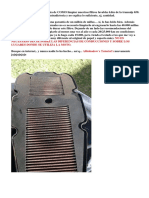 Guia Limpieza Filtro Aire K&N TA 650