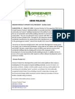 Greener Products Appoints Rick Horne, VP Global Sales