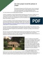 Les avantages de faire votre propre travail de pelouse et aménagement paysager
