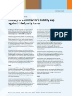 Efficacy of Liability Cap Against Third Party Losses