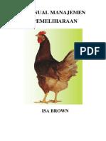 Manual Manajemen Pemeliharaan Isa Brown Commercial