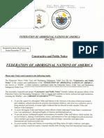 Public & Constructive Notice of formation of FANA
