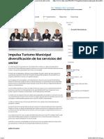 15-01-16 Impulsa turismo municipal diversificación de los servicios del sector