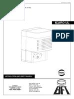 Icaro Ul - 120v - Sliding Operator - Manual