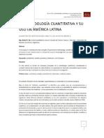 La Metodología Cuantitativa en América Latina