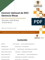 Reunión Mensual Gerencia Minas - Miercoles 12 de Diciembre 2013