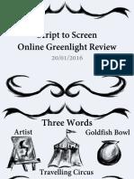 Script to Screen OGR