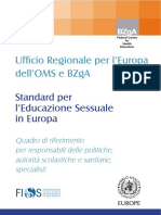 educazione sessuale oms europa