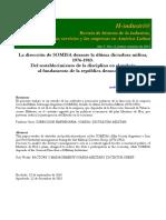 LA DIRECCIÓN DE SOMISA DURANTE LA ÚLTIMA DICTADURA MILITAR, 1976-1983. DEL RESTABLECIMIENTO DE LA DISCIPLINA EN EL TRABAJO AL FUNDAMENTO DE LA REPÚBLICA DEMOCRÁTICA ANDRÉS CARMINATI